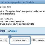 Une option permet d'enregistrer la video