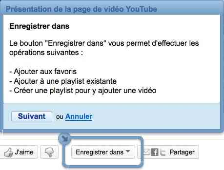 Une option permet d'enregistrer la video