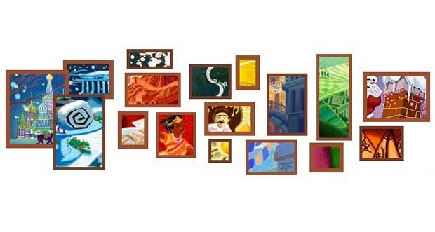 Google met à la fête 17 vignettes dans son doodle pour Noël