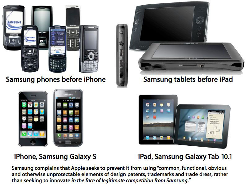 Apple accuse Samsung d'avoir copié son iPhone et son iPad