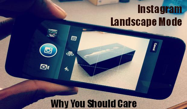 Instagram : une utilisation plus naturelle avec le mode paysage