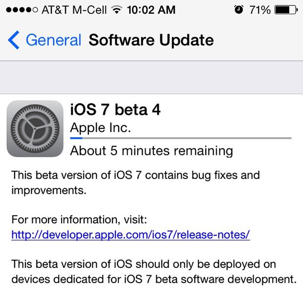 iOS 7 : ce que nous livre la bêta 4