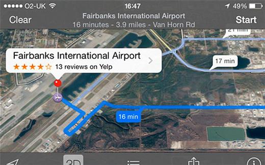 Apple Plans envoie des automobilistes sur la piste d'un aéroport !