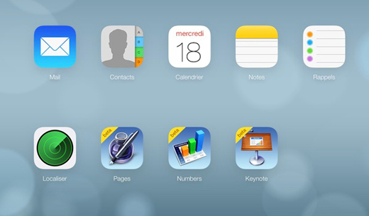 iCloud.com fait peau neuve et adopte le style iOS 7