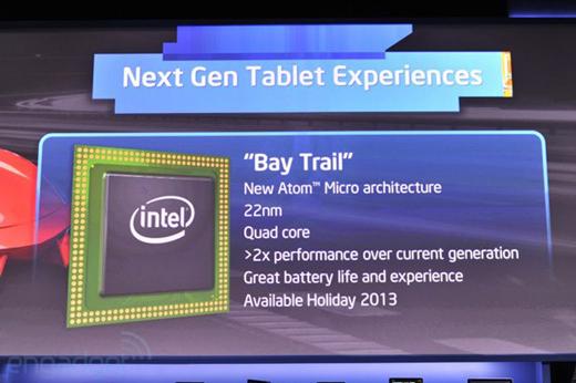 Intel lance ses nouveaux processeurs Atom Bay Trail