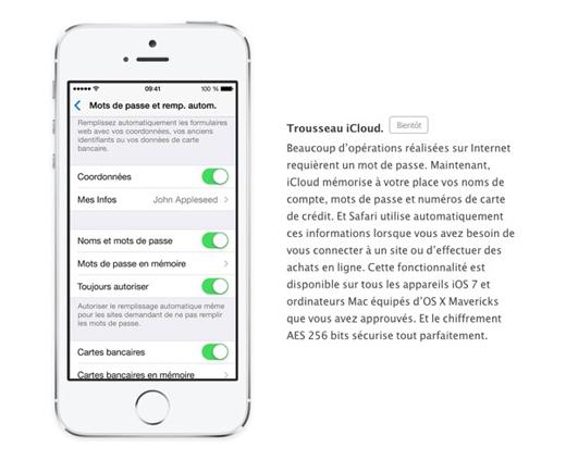 Apple retire momentanément le Trousseau iCloud d'iOS 7