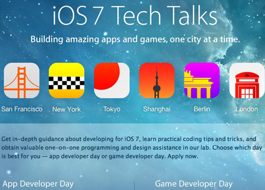 Apple annonce les iOS 7 Tech Talks