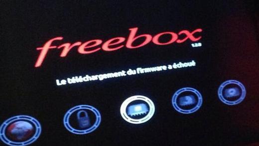Message affiché sur certaines Freebox.
