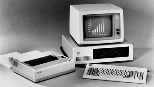 IBM PC 5150 mis au point par William C. Lowe et son équipe le 12 août 1981