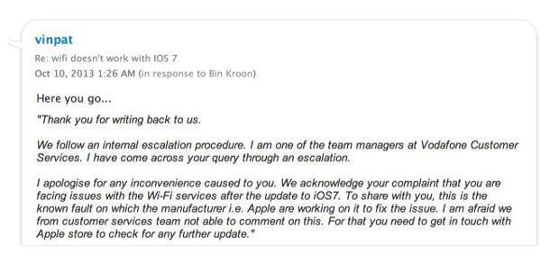 L'iPhone 4S a des soucis de wi-fi avec iOS 7 ?