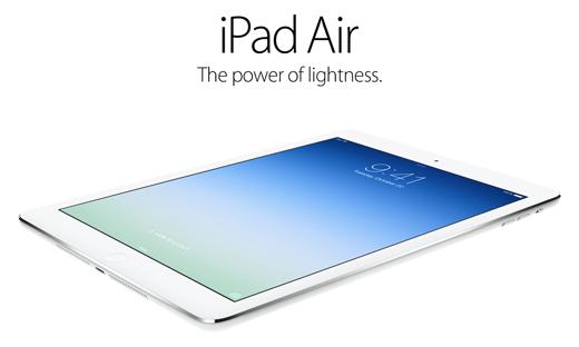 En voici un que l'on attendait pas, l'iPad Air !
