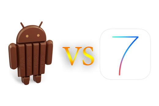 Android KitKat 4.4 vs. iOS 7 : quel est le meilleur système d'exploitation mobile ?