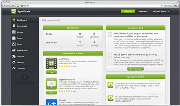 Appsify.me : une plateforme à héberger pour concevoir des applications iOS natives