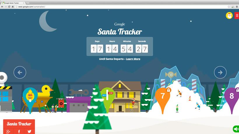 Sur la piste du père Noël avec Google