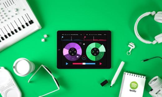Pacemaker mixe les morceaux de Spotify sur iPad