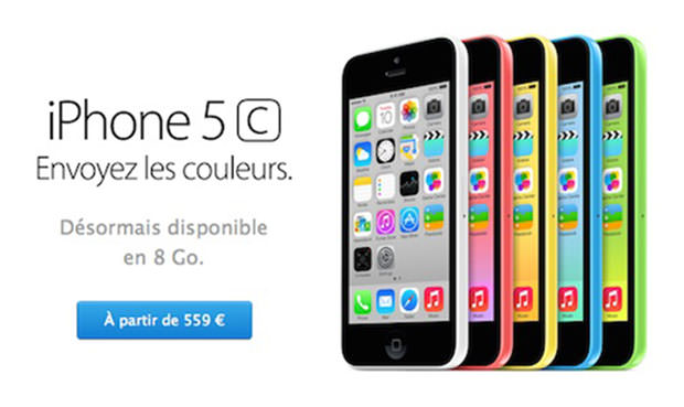 Apple commercialise l'iPhone 5c 8 Go et l'iPad 4
