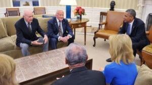 Lune : Obama salue le courage de Neil, Buzz et Michael
