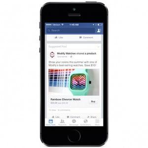 """Facebook : un bouton """"J'achète"""" au sein des publicités"""