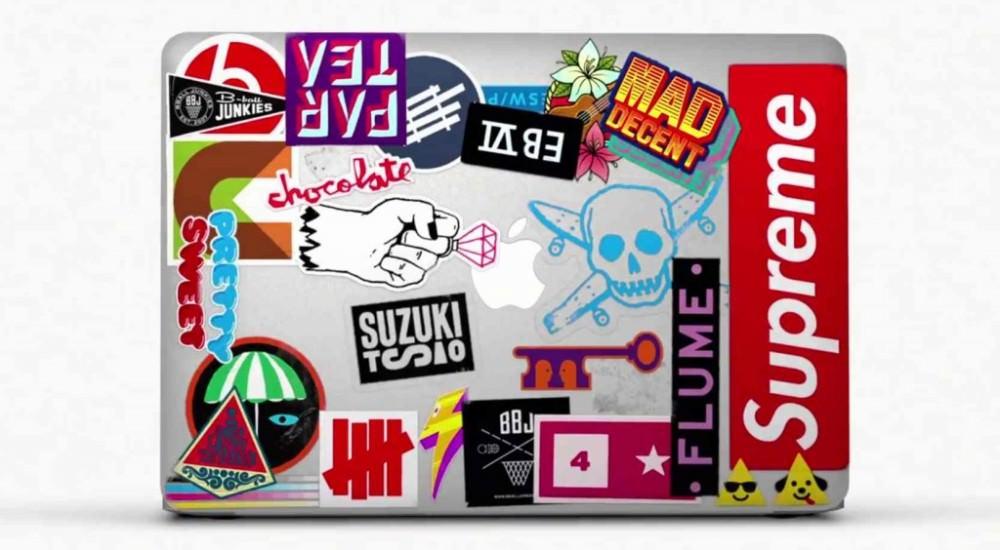 Les stickers au coeur de la nouvelle campagne de pub du Macbook