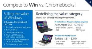 Microsoft pourrait proposer des ordinateurs moins chers que les Chromebooks de Google