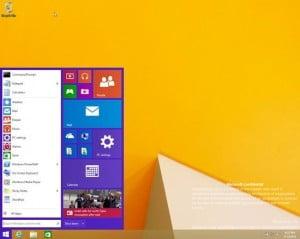 Windows 9, une première image du menu Démarrer ?