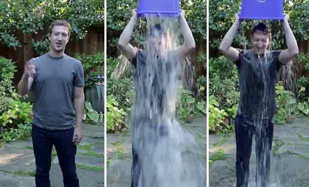 Mark Zuckerberg défie Bill Gates de se verser un seau d'eau glacée sur la tête