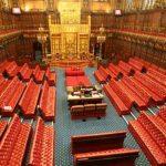La Chambre des Lords, au Royaume-Uni.