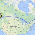 Trajet de HitchBot à travers le Canada.