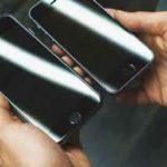 Le prétendu iPhone 6 comparé à l'iPhone 5s.