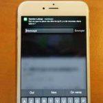 La fonction de réponse rapide d'iOS 8.