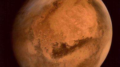 La planète Mars vue par la sonde MOM de l'agence spatiale indienne.