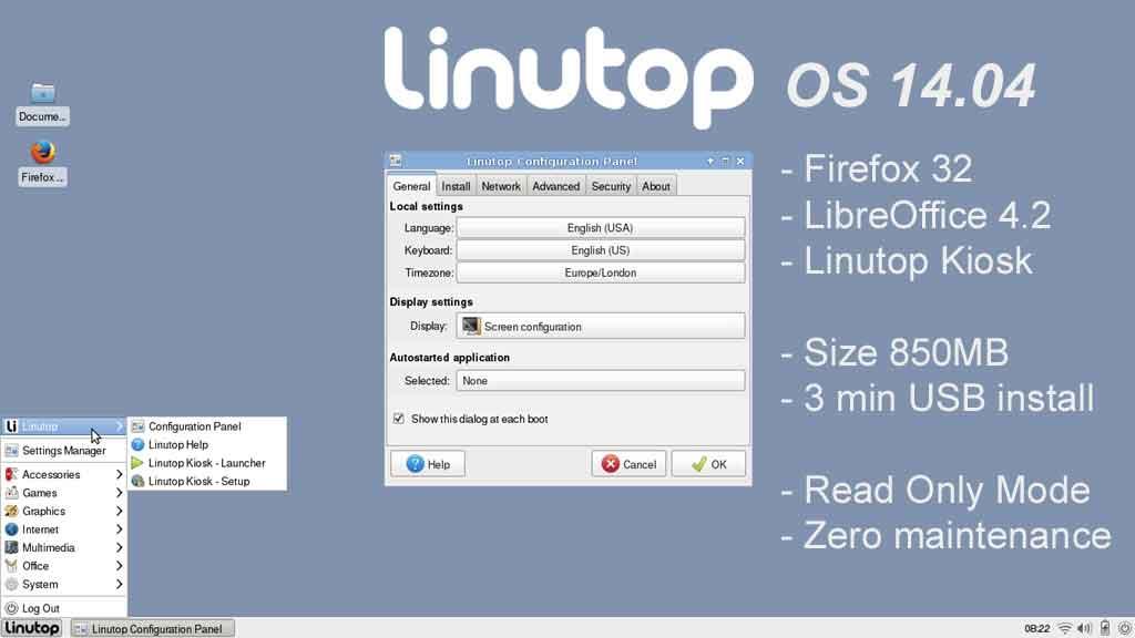 Nouvelle distribution Linutop OS 14.04 pour PC