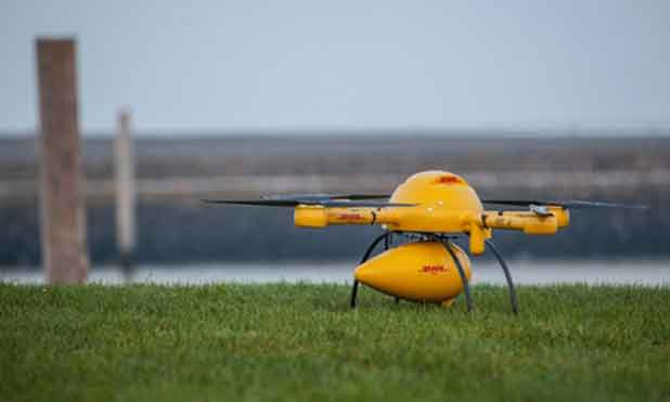 DHL : la livraison par drones volants vers une île allemande dès demain