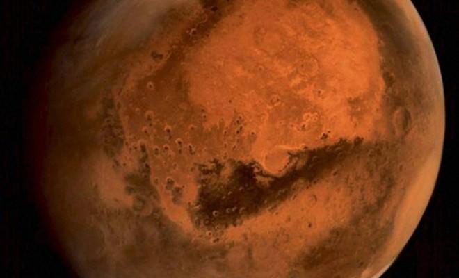 Sonde indienne MOM : photo d'une tempête de poussière sur Mars