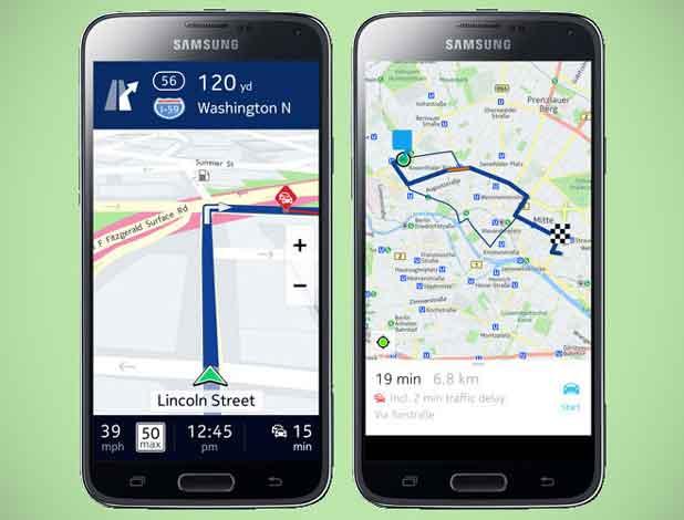 Here de Nokia débarque sur les Samsung Galaxy Android