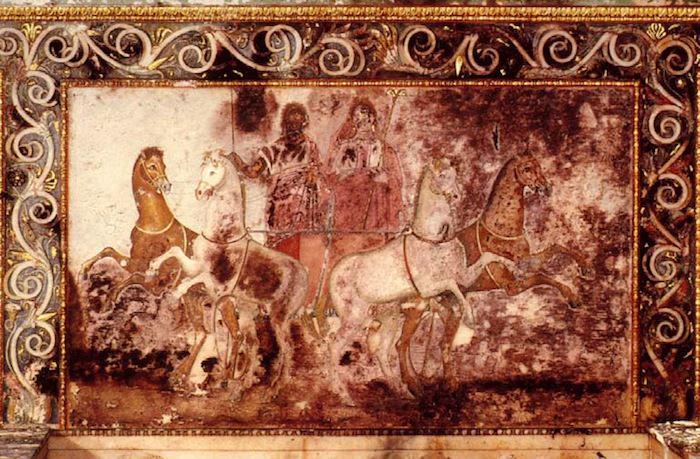 Heroon Wall Painting Vergina Greece