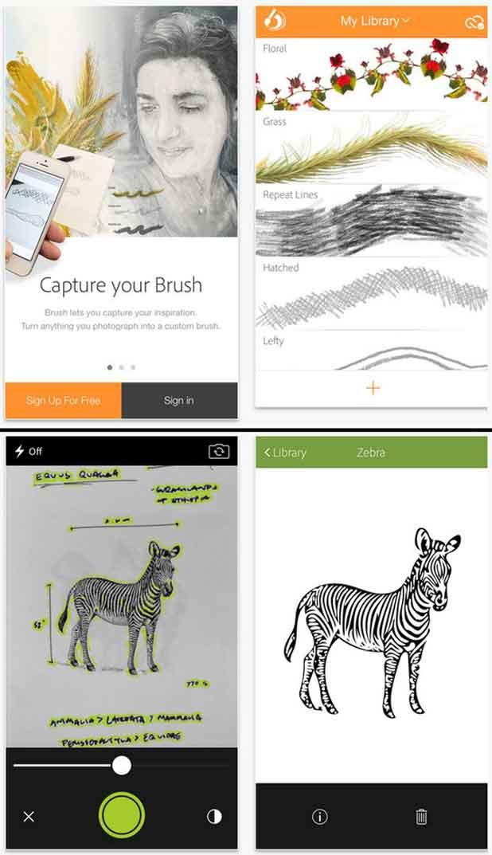 Brush CC (en haut) et Shape CC (en bas)