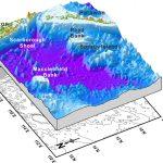 Les montagnes sous-marine de la mer de Chine.
