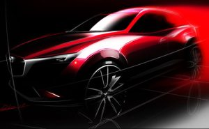 Mazda-CX-3-Teaser-Sketch