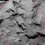 "Rosetta site ""J"". Illustration : ESA"