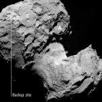 Site J est la cible principale de Philae pour atterrir sur la comète 67P Churyumov-Gerasimenko.