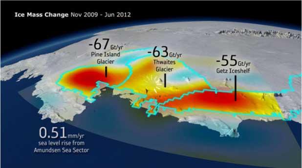 La fonte des glaces en Antarctique provoque un changement... de gravité