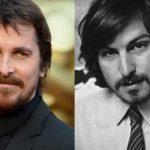 Christian Bale (à gauche) et Steve Jobs (à droite).
