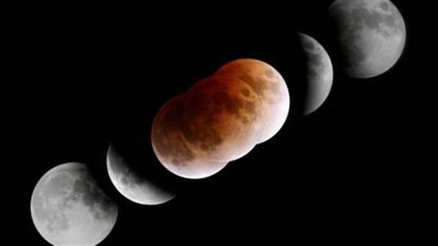 L'éclipse lunaire totale du 28 février 2008 Photo Philippe Moussette.