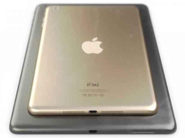 Jusqu'ici l'iPad Air se déclinait dans une version «argent» et une autre «gris sidéral».