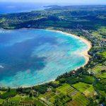 La baie d'Hanalei, sur l'île de Kauai.