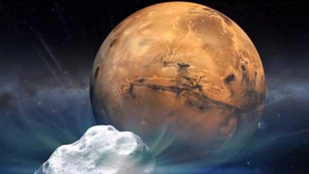 1re en un million d'années: une comète «frôle» Mars