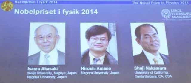 Prix Nobel de physique : les inventeurs de l'ampoule LED primés