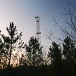 Un antenne de télécommunications à Arjuzanx (Landes), en janvier 2010.