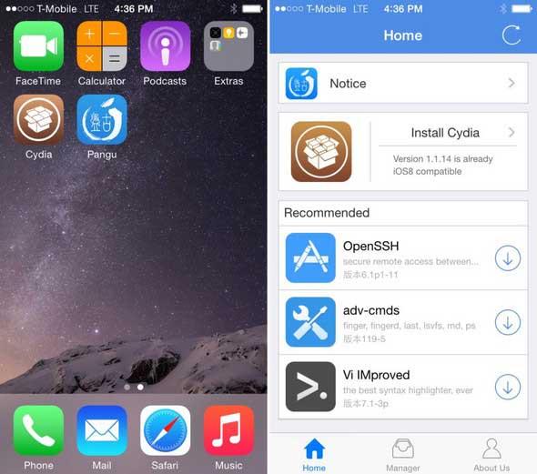 Pangu 1.1 : un jailbreak complet pour iOS 8 est désormais disponible